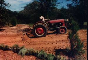 Bud and tractor